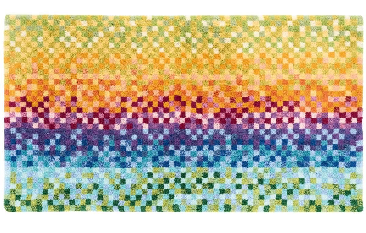 covor colorat din bumbac 100%,  tesut manual  ,greutate totala 1900gr/mp