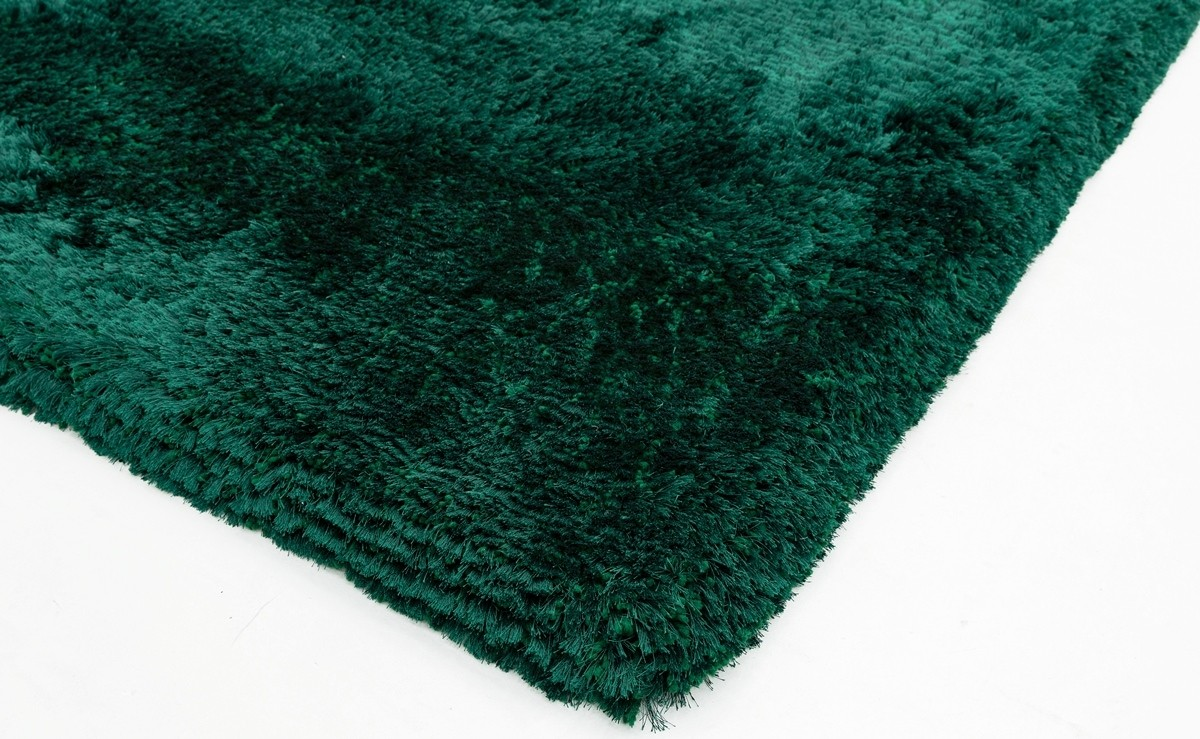 Covor verde din 100% POLYESTER Plush 200x300
