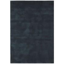 Covor negru din lana 60% si vascoza 40% tesute manual,grosime 18mm,greutate totala 3500gr/mp
