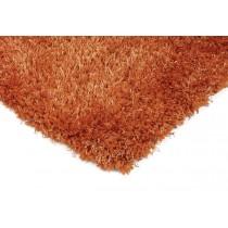 Covor orange din poliester 100%, tesut manual ,grosime 50mm,greutate totala 2000gr/mp