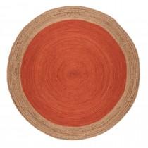 Covor rosu din iuta 100%, impletite manual , greutate totala2000gr
