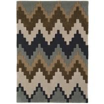 Covor maro din lana 100% , lucrat manual cu carved,grosime 12mm,greutate totala 2500gr/mp