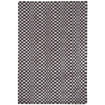 Covor albnegru din vascoza 50%  si lana 50% , tesut manual ,grosime 12mm,greutate totala 2500gr/mp