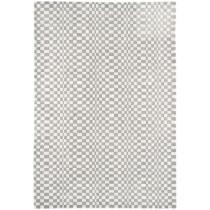 Covor argintiu din vascoza 50%  si lana 50% , tesut manual ,grosime 12mm,greutate totala 2500gr/mp
