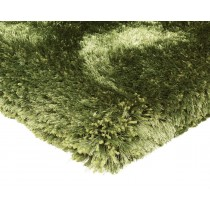 Covor verde din poliester 100% , tesut manual, grosime  80mm,greutate totala 5500gr/mp