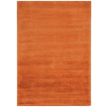 Covor portocaliu din vascoza 60%  si bumbac 40% , tesut manual ,grosime 6mm,greutate totala 2000gr/mp