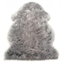 Covor argintiu din piele de ovine  100%, 3x2 , greutate totala 6.24  kg