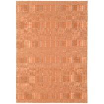 Covor portocaliu din lana 55% si bumbac 45%, tesut manual, greutate totala 1500gr/mp