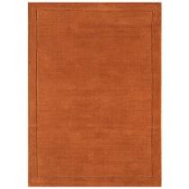 Covor caramiziu din lana 100% , tesut manula,grosime 7mm,greutate totala 1800gr/mp