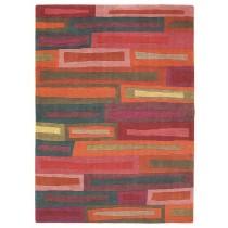 Covor colorat din lana 100%, lana New Zealand innodat manual,grosime 15mm,greutate totala 5200gr/mp