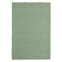 Covor verde din lana si vascoza,tesute manual, grosime 22mm,greutate totala 5000gr/mp