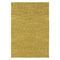Covor galben din lana 100%,tesute manual, grosime 20mm,greutate totala 3400gr/mp