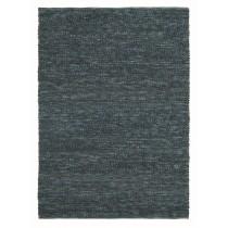 Covor albastru din lana 100%,tesute manual, grosime 25mm,greutate totala 3800gr/mp