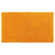 covor orange din bumbac 100%,  tesut manual  ,greutate totala 1900gr/mp