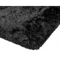 Covor negru din 100% POLYESTER Plush 160x230