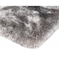 Covor argintiu din 100% POLYESTER Plush 70x140