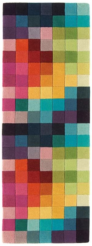 Covor colorat din lana  New Zeeland 100% , tesut manual cu carved ,grosime 12mm,greutate totala 3300gr/mp