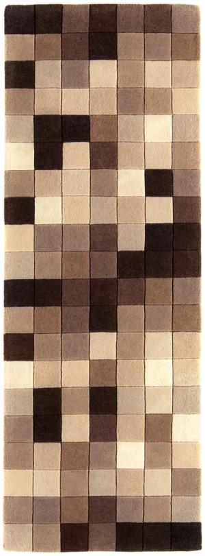 Covor maro din lana  New Zeeland 100% , tesut manual cu carved ,grosime 12mm,greutate totala 3300gr/mp