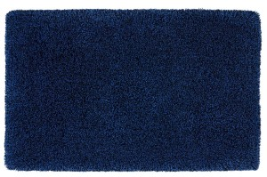 covor albastru din bumbac 75% , acril 25%,  tesut manual,greutate totala 2500gr/mp